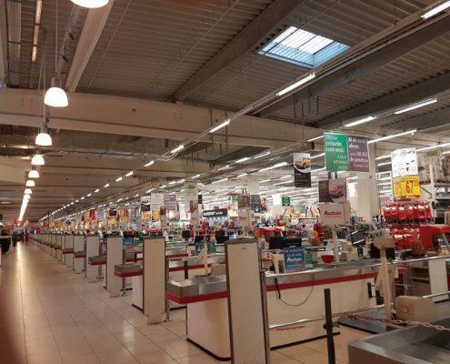 culoar de hypermarket